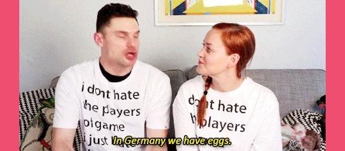 Flula, Flula Borg, Germany, Mamrie Hart, ovaries, this is queue, youtubemine, Egg Battles w/ Mametown GIFs