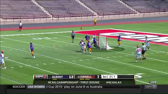 Watch and share Albany Lacrosse Ncaa Goalie Scores Track1 GIFs on Gfycat