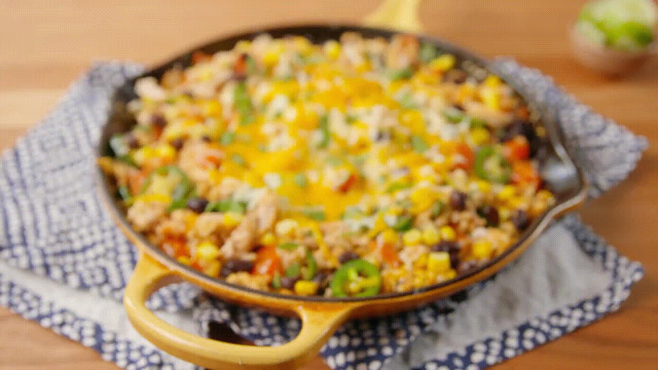 GifRecipes, Tex-Mex Cauliflower Rice GIFs