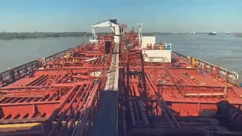 Watch and share Tanker Vessel North Bound On The Mississippi River. GIFs on Gfycat