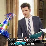 Watch and share Image Result For Parks And Rec Accountant Gif GIFs on Gfycat