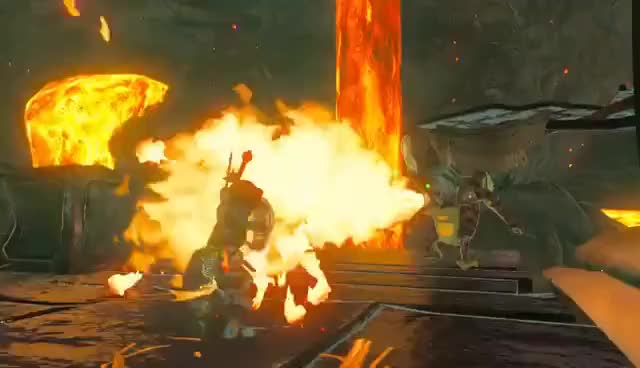 Watch and share Zelda BOTW: Fire Action GIFs on Gfycat