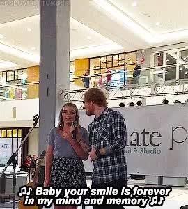 Watch and share Thinking Out Loud GIFs and Teddy Sheeran GIFs on Gfycat