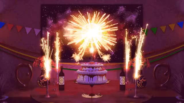 Happy birthday to you yay woohoo wishes tada sparkles ioanna happy birthday happy fireworks exciting excited confetti champagne celebrate candles birthday cake birthday best bday GIF