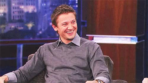 Watch this happy GIF by Reaction GIFs (@sypher0115) on Gfycat. Discover more Jeremy Renner, happy, joy, smile GIFs on Gfycat