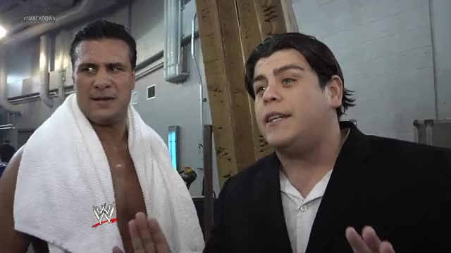 Watch Backstage Fallout  GIF by Blaze Inferno (@metaknightxprophets) on Gfycat. Discover more Alberto Del Rio, Ricardo Rodriguez, World Wrestling Entertainment, afterburn, divas, nxt, pay per view, ppv, raw, smackdown, wwe GIFs on Gfycat