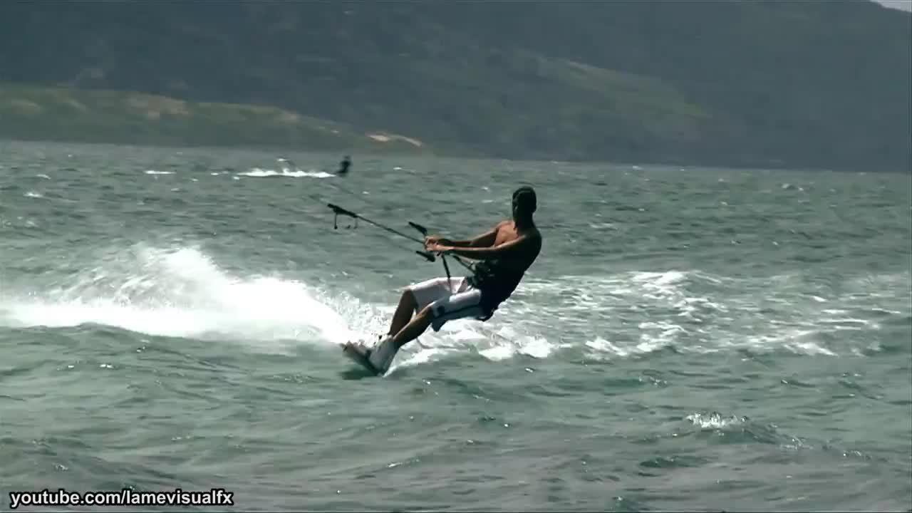 michaelbaygifs, Kite Surfer Attack ! (reddit) GIFs