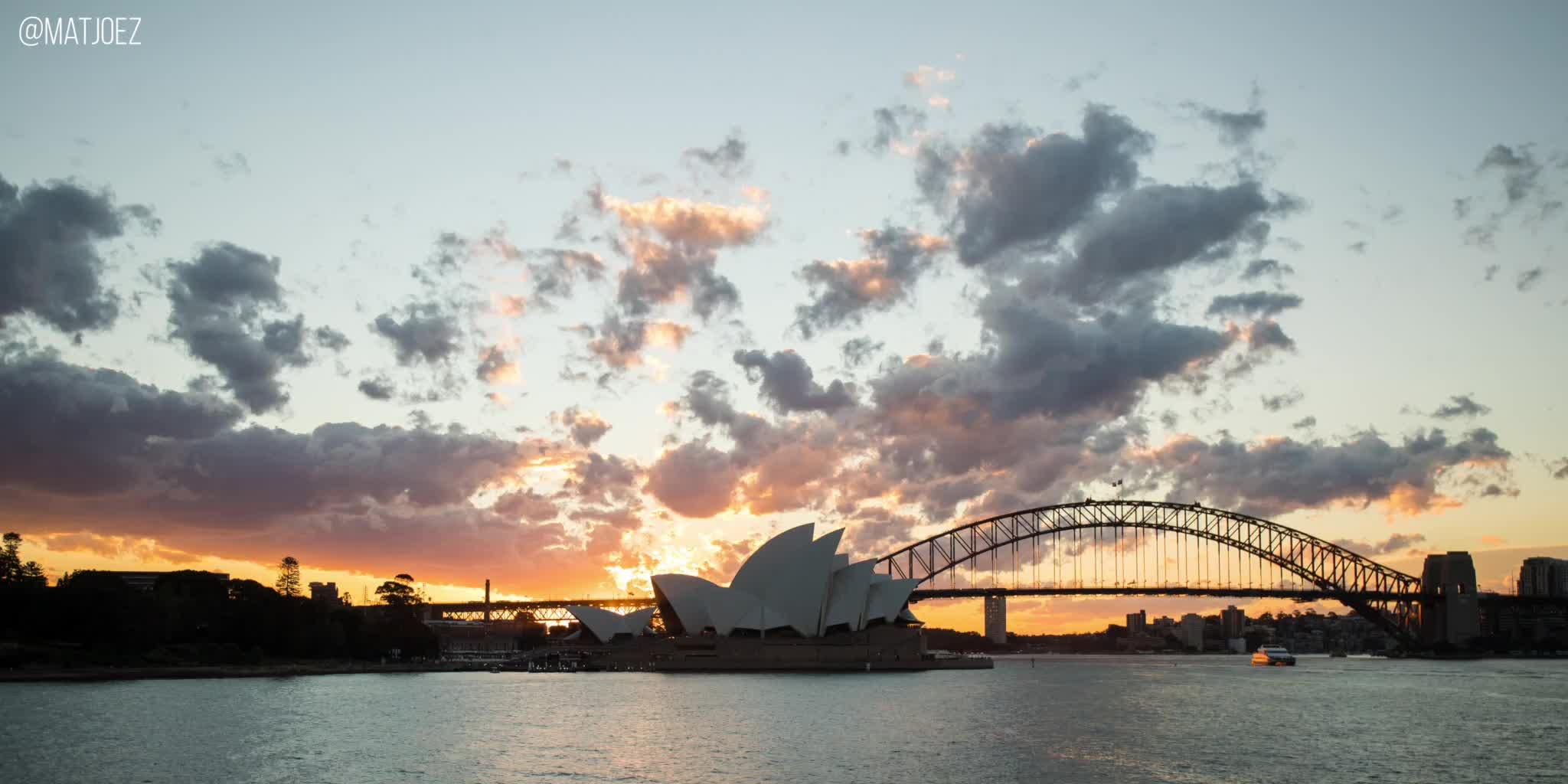 matjoez, timelapse, weathergif, Sydney Opera House at sunset GIFs