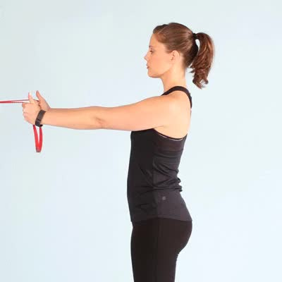 Watch and share 400x400-Resistance Band Shoulder Squeezes GIFs by Healthline on Gfycat