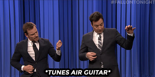 guitar, jimmy fallon, michael fassbender, air guitar GIFs