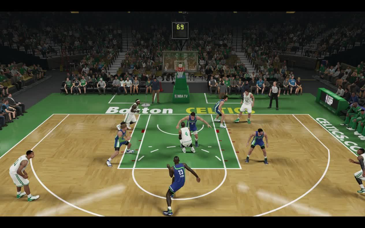 nba2k, I think Gallinari might be facing some shoulder issues after this one. (reddit) GIFs