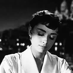 Watch this GIF on Gfycat. Discover more Audrey, Audrey Hepburn, b & w, black and white, chic, classic, gifs, hip, hipster, icons, indie, movies, old school, queen, role models, vintage GIFs on Gfycat