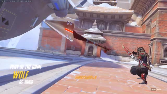 Overwatch hanzo play of the game video
