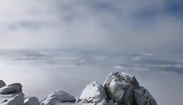 Watch and share Foggy, Rainy, Windy, Snowy, And Sunny On Cucamonga Peak GIFs on Gfycat