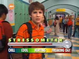 Watch and share Ned Bigby Stressometer Devon Werkheiser Neds Declassified School Survival Guide Nickelodeon Nick Animated GIFs on Gfycat