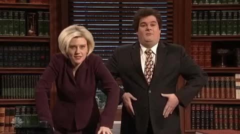 Watch and share Bobby Moynihan GIFs and Kate Mckinnon GIFs on Gfycat