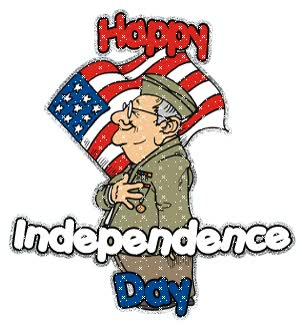 Watch and share Independence Day Usa animated stickers on Gfycat