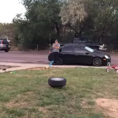 funny, fail, Fire that tire GIFs
