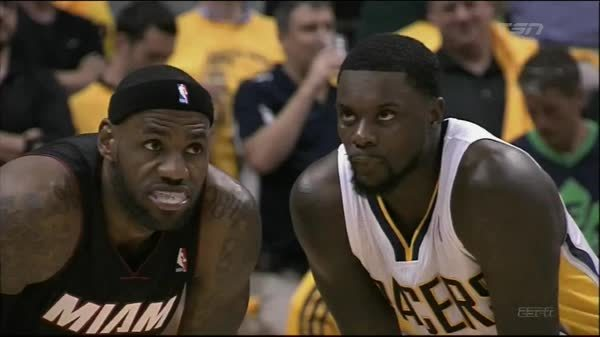 LeBron James, nbaww, Lance Stephenson blowing in the ear of LeBron James (reddit) GIFs