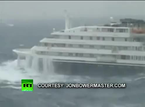Watch and share Dramatic Video Of Clelia II Antarctic Cruise Ship Slammed By Giant Waves GIFs on Gfycat