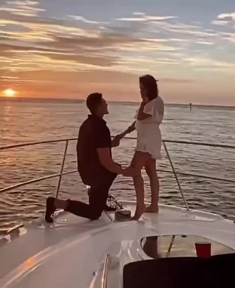 Just casually throwing an engagement ring on a boat - gif