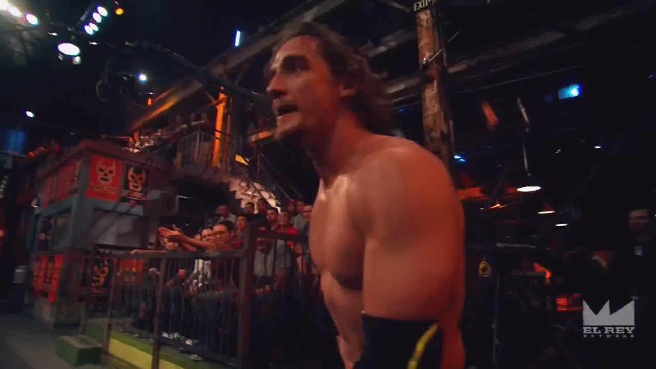 LuchaUnderground, SquaredCircle, luchaunderground, Lucha Underground - Argenis hangs Jack Evans in the temple! GIFs