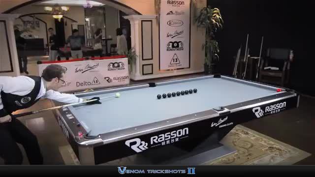 Watch Venom Trickshots - China #7 GIF on Gfycat. Discover more Billard, Insane, Jump, Shots, Venom, amazing, billiard, billiards, florian, kohler, masse, pool, snooker, trick, trickshot, trickshots, venomtrickshots, world GIFs on Gfycat