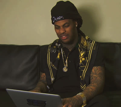 Waka Flocka Flame, confused, huh, wow, wtf, Waka Flocka Confused GIFs