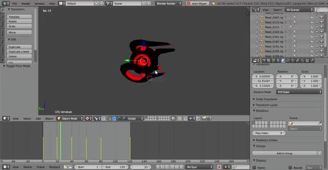 Watch and share Blender [D  Blender Models Hex Models.blend] 5 20 2019 8 54 35 PM GIFs on Gfycat
