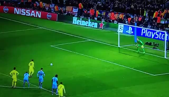 Watch and share Messi Penalty & Header Miss V Manchester City 24/02/2015 GIFs on Gfycat