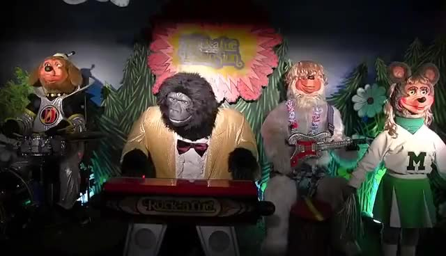 Watch and share XMAS Gift Tape 1986** Rock-afire Explosion** Showbiz Pizza Place GIFs on Gfycat