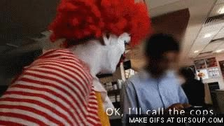 Watch Ronald McDonald run GIF on Gfycat. Discover more related GIFs on Gfycat