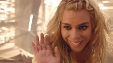 Billie Piper, greetings, hello, hi, hi GIFs