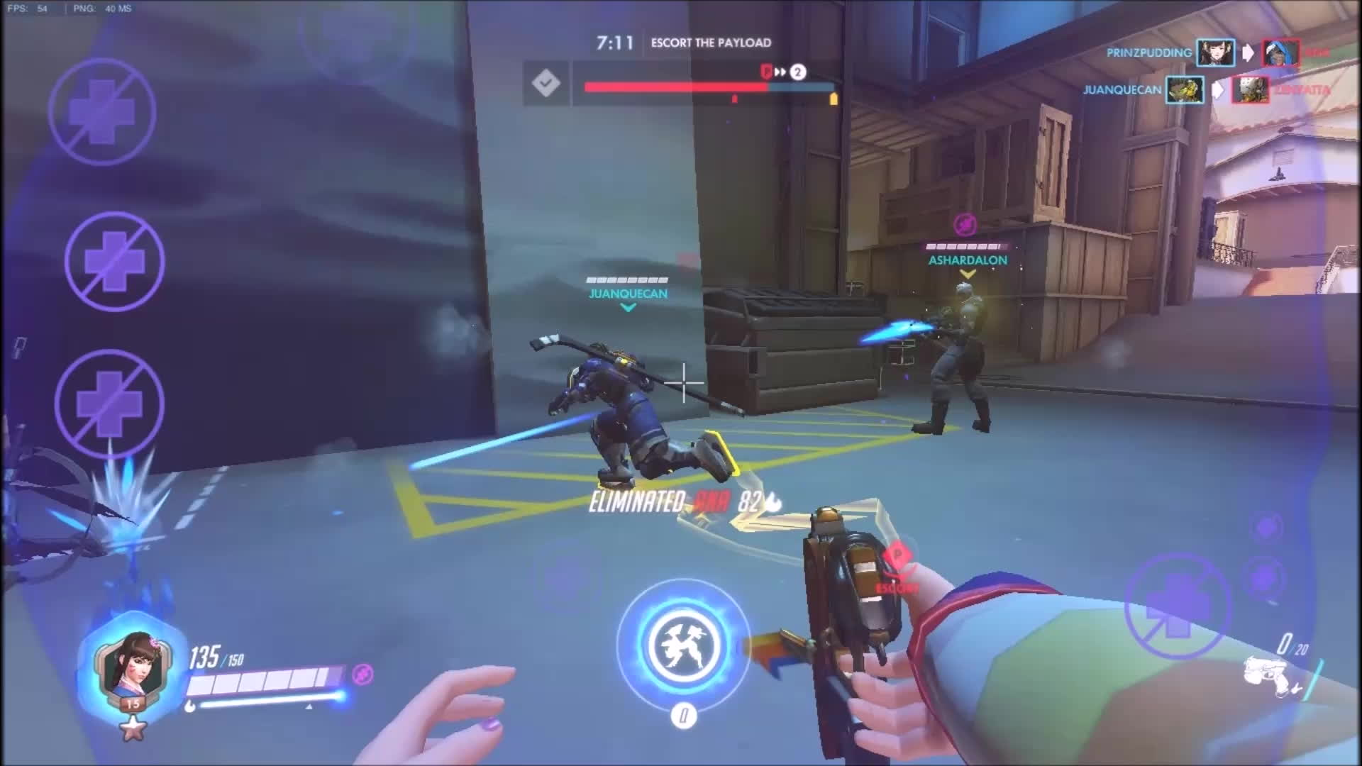 Overwatchmemes, combinedgifs, titanfall, Somebody playing as Talon Assualt Tank from Retribution in competitive (Korean servers) (reddit) GIFs
