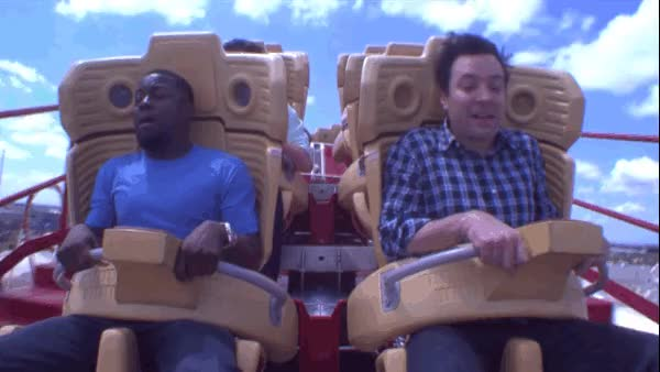 Watch and share Roller Coaster GIFs and Jimmy Fallon GIFs on Gfycat