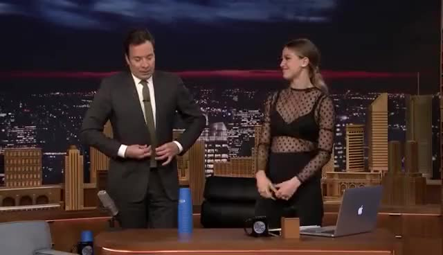 Watch and share The Tonight Show Starring Jimmy Fallon GIFs and Melissa Benoist GIFs on Gfycat