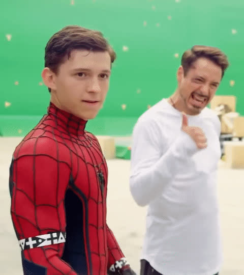 robert downey jr, thumbs up, tom holland, Tom holland GIFs