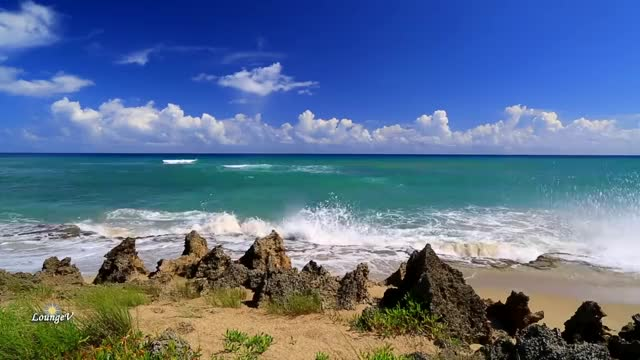 Very Relaxing Music with Paradise Beaches and Sounds of Waves for