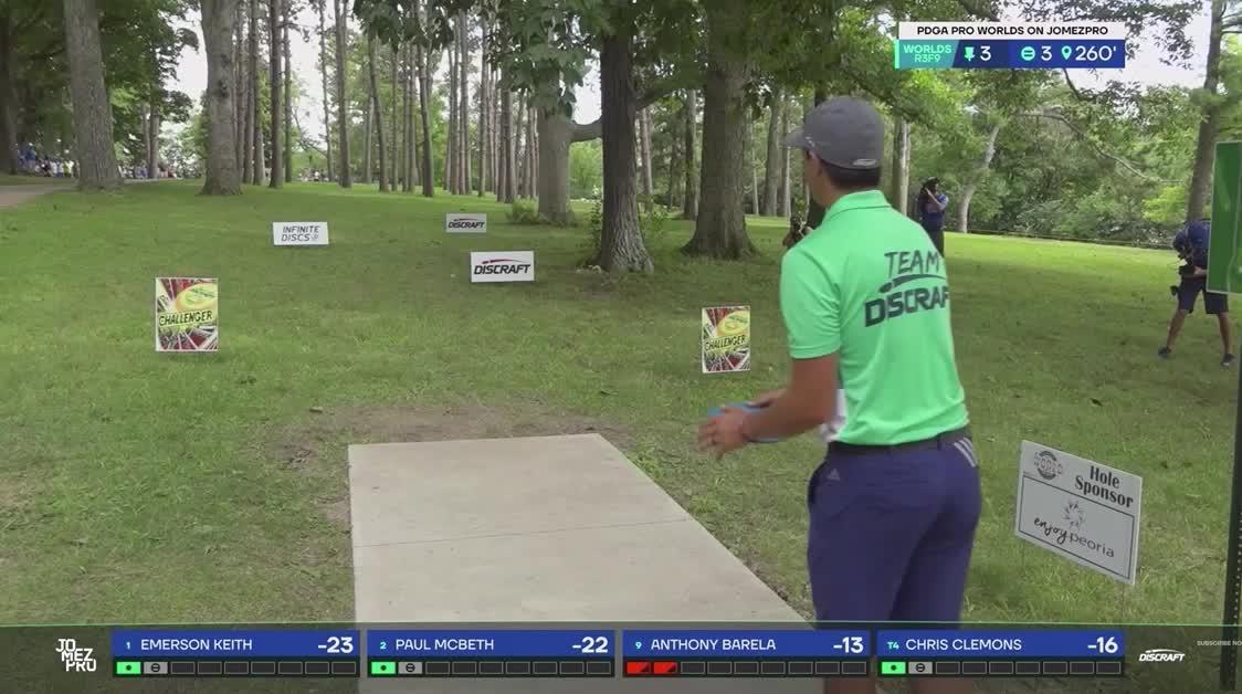 2019 Pro Worlds Round 3 Lake Eureka Paul McBeth hole 3 drive GIFs