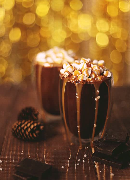 Watch and share Dark Chocolate Milk Mini Marshmallows Caramel Sauce Sea Salt GIFs on Gfycat