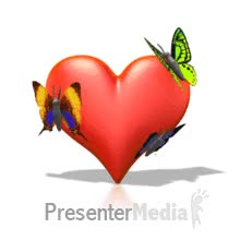 Watch and share Butterfly Resting On Heart Powerpoint Animation GIFs on Gfycat