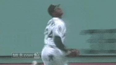 baseballgifs, griffey wallcrash GIFs