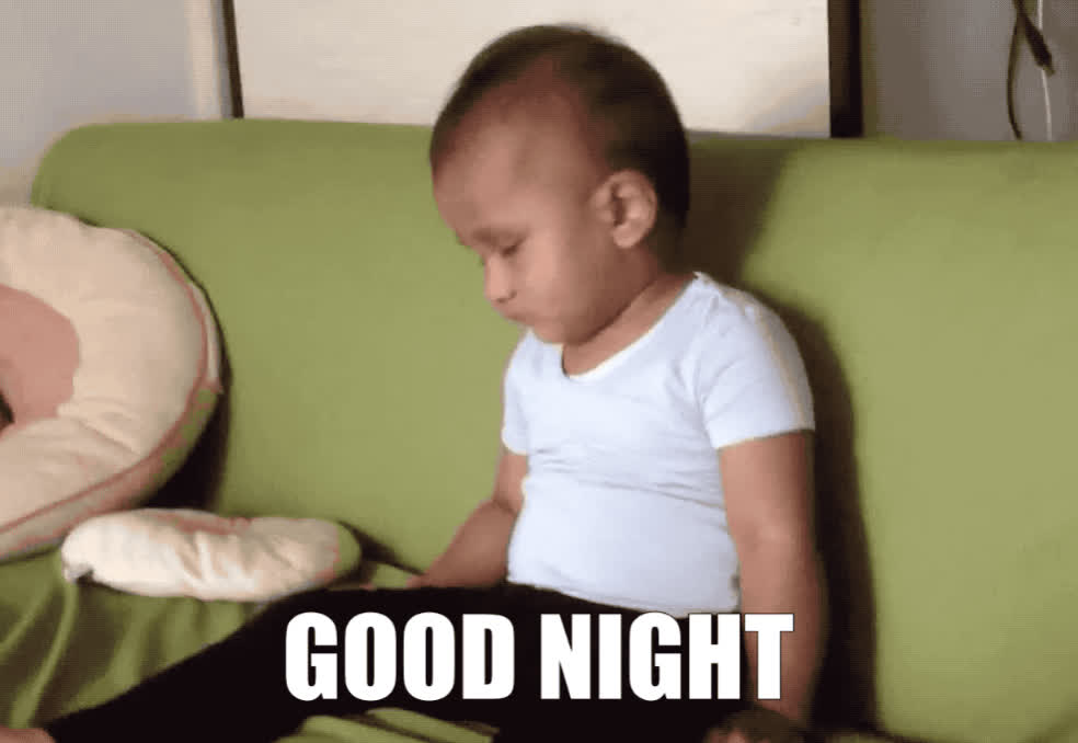 asleep, baby, can't, child, eyes, fall, funny, good, good night, goodnight, keep, kid, lol, meme, my, night, open, sofa, tired, tiring, Good night everybody GIFs