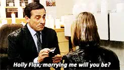 Watch and share Michael Scott GIFs and Holly Flax GIFs on Gfycat