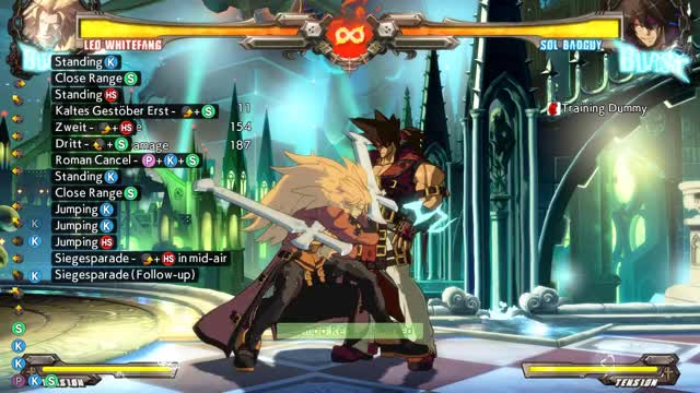 Watch Leo basic Combo Load GIF by @sageth on Gfycat. Discover more Guilty Gear, Leo, REV2, Whitefang, XRD GIFs on Gfycat