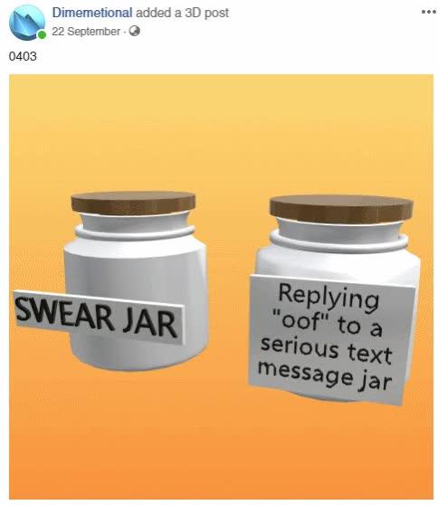 Swear Jar - Facebook 3D GIF | Find, Make & Share Gfycat GIFs