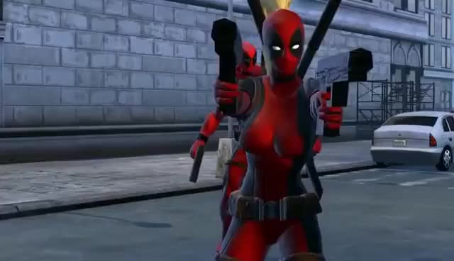 Watch and share Lady Deadpool GIFs on Gfycat