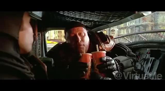 Watch and share McDonald's Drive-Thru Of The Future - The Fifth Element. Luc Besson, Jean Paul Gaultier GIFs on Gfycat