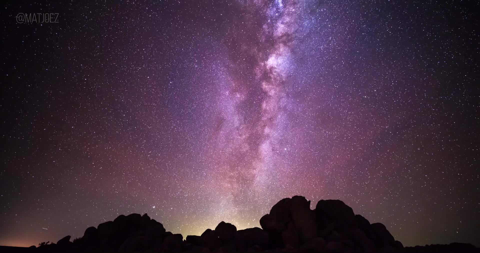 astronomy, astrophotography, galaxy, space, timelapse, Milky way with airglow by @matjoez GIFs