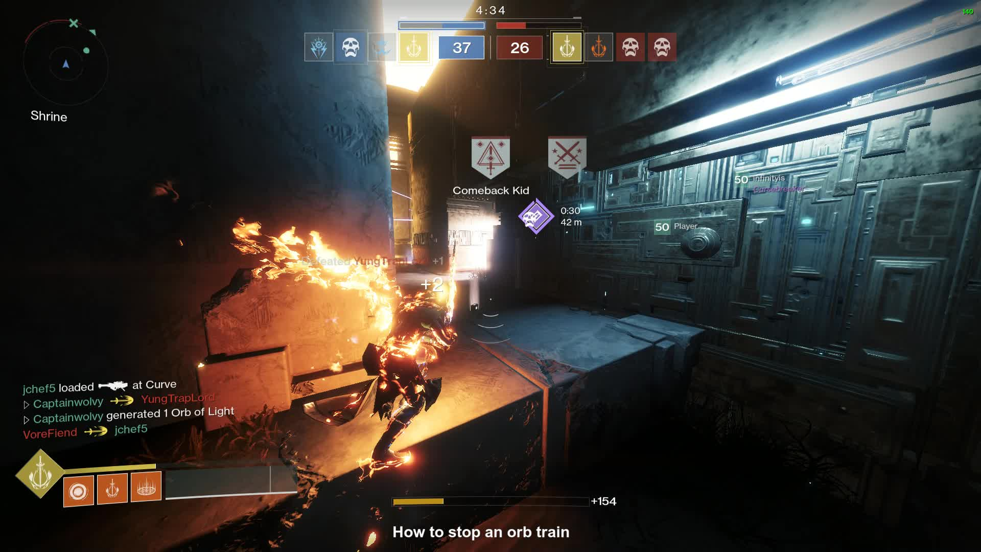 destiny2, how to stop an orb train GIFs